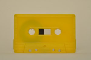 yellow cassette tapedub