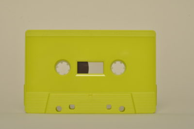 fluo yellow cassette tapedub