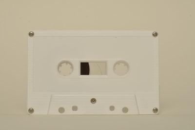 white cassette tapedub