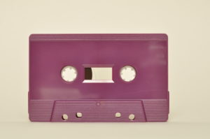 plum purple cassette tapedub