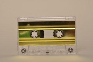 gold metal inner cassette tapedub