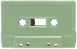 pale green cassette tapedub